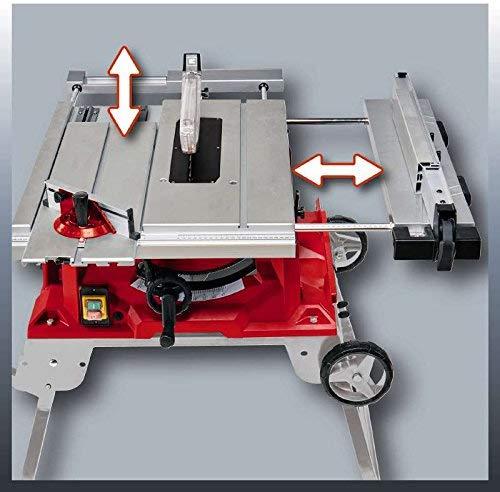 Einhell Table de sciage TE-CC 2025 UF (2000 W, 48 dents, Hauteur de travail : 850 mm, Piètement repliable, Poussoir, Support d'accessoires,...