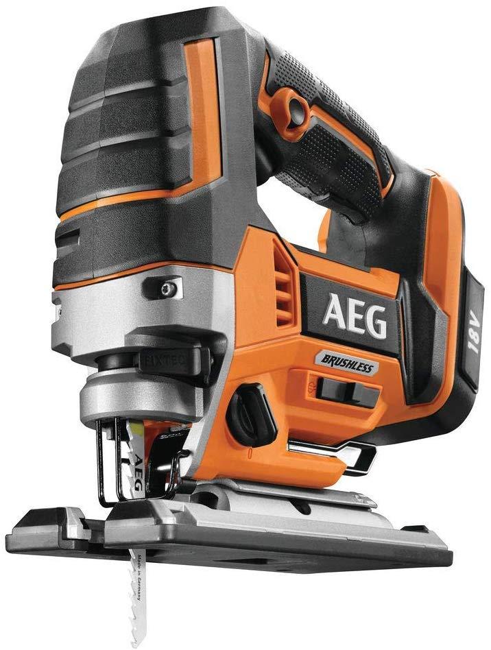 AEG 4935459654 BST18BLX-0 Scie sauteuse sans balais 18 V avec éclairage LED 4 positions de suspension sans batterie)
