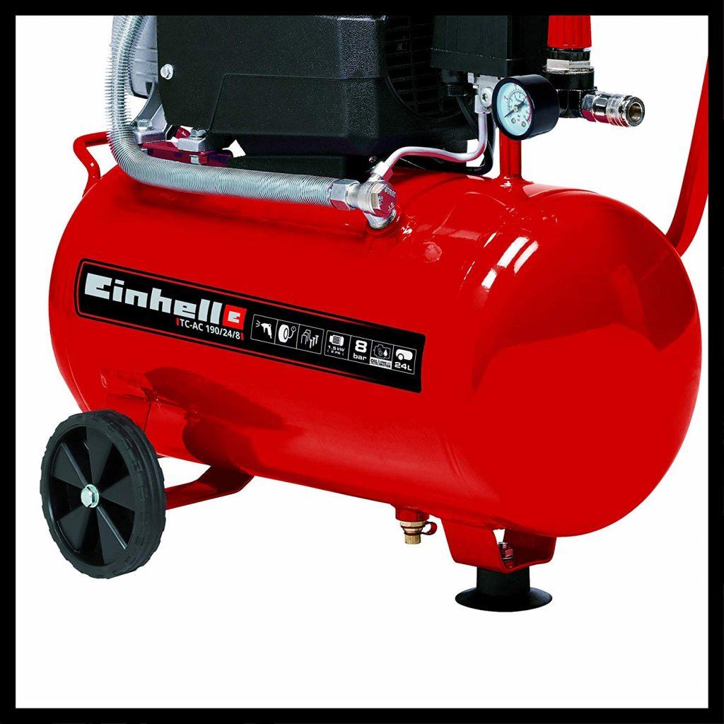Einhell Compresseur TC-AC 190/24/8 (1500 W, Puissance d'aspiration 165 l/mn, Pression maximale 8 bar,