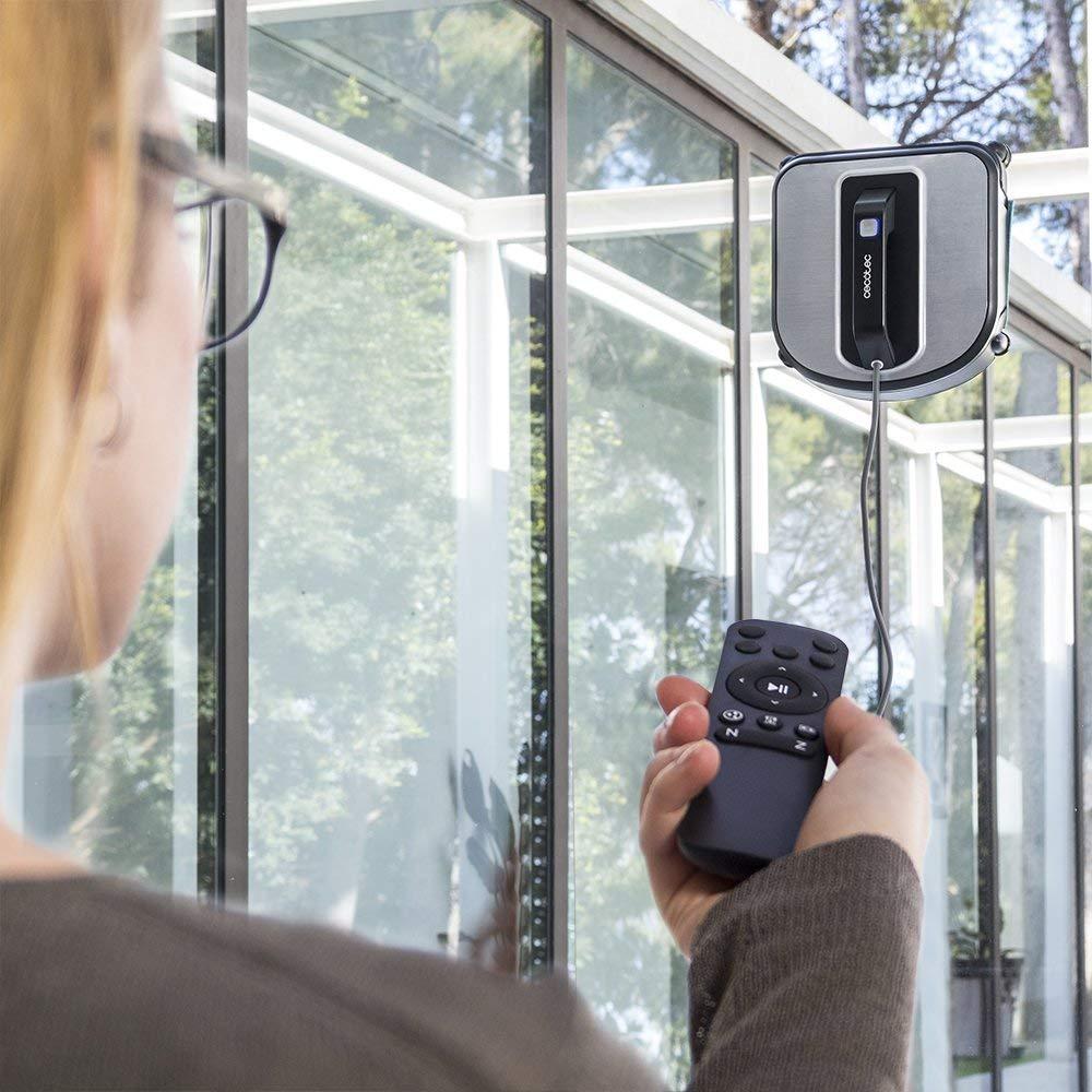 Cecotec WinRobot Excellence 970 Robot Nettoyant pour vitres, Navigation iTech Win 3, 75 W, Design carré, 4 Modes de Nettoyage, pour Toutes Les...