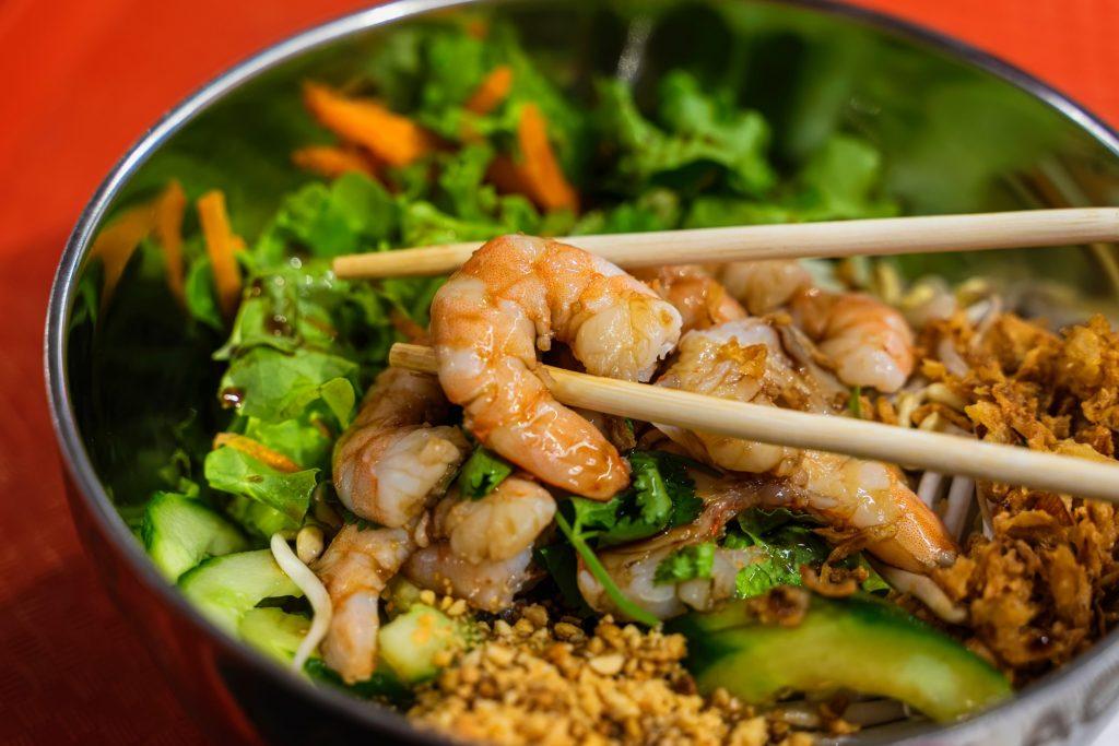 Crevettes-wok