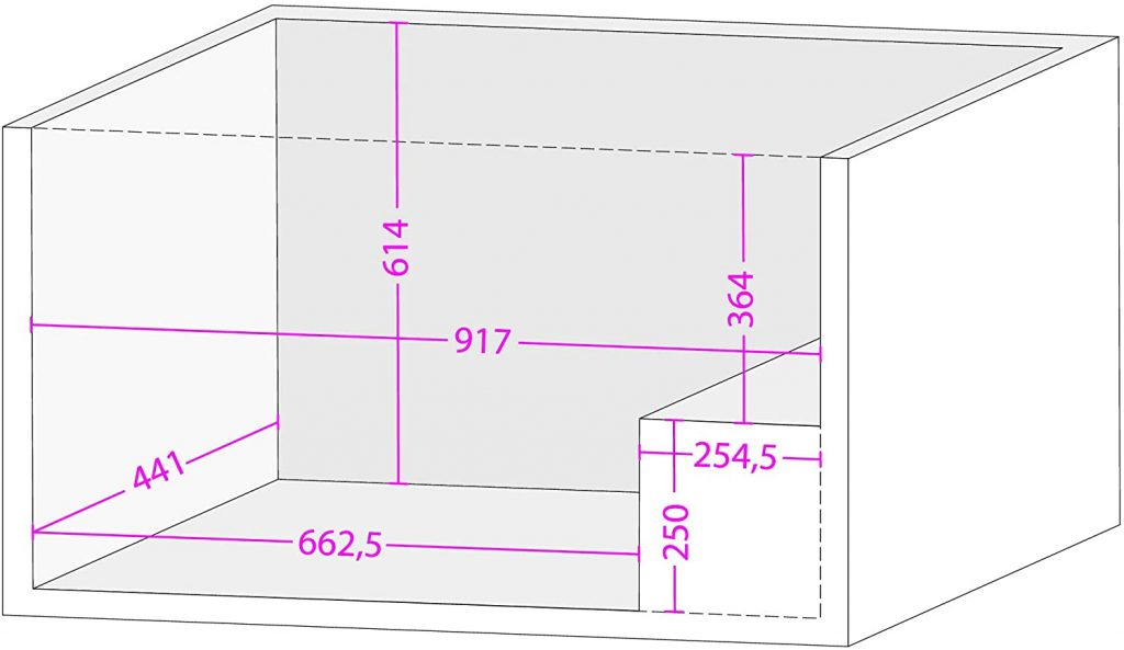 dimensions congélateur coffre Beko