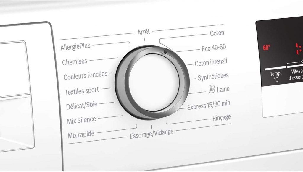 Bouton de programmation lave-linge Bosch Wan