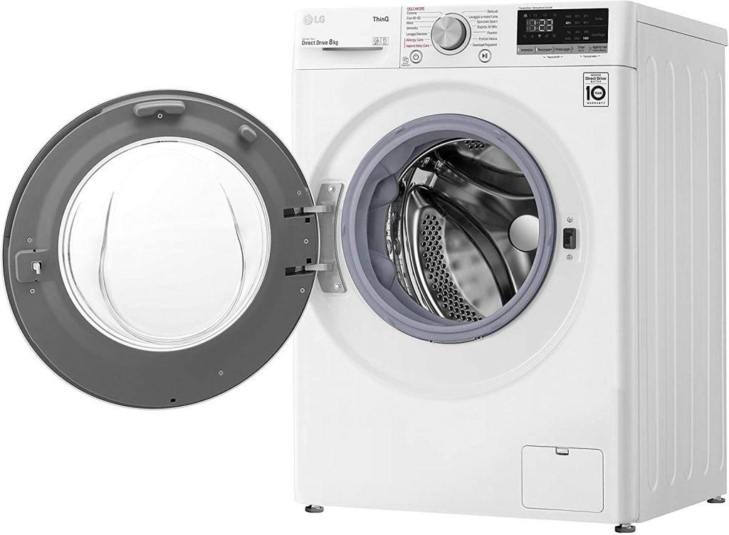 Machine à laver LG frontal porte ouverte