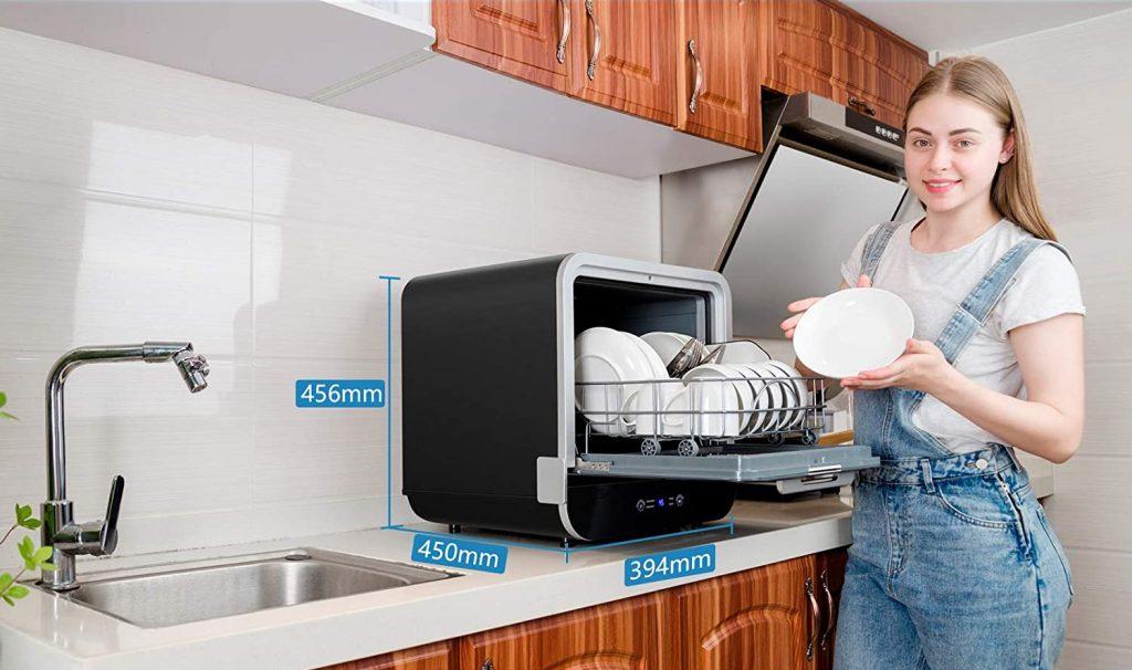 Dimensions du lave-vaisselle de bureau Kwasyo