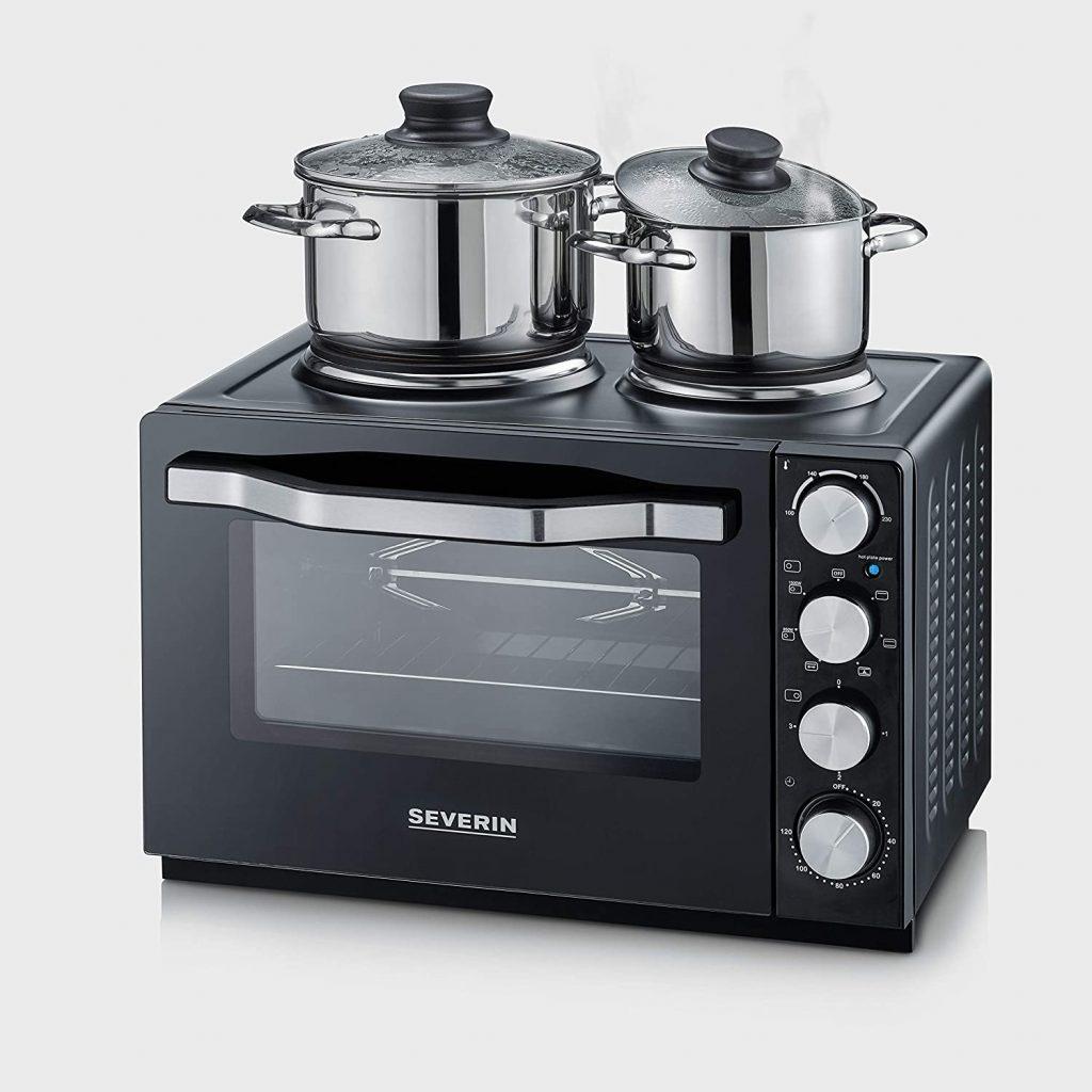 Mini-four Severin avec plaque de cuisson