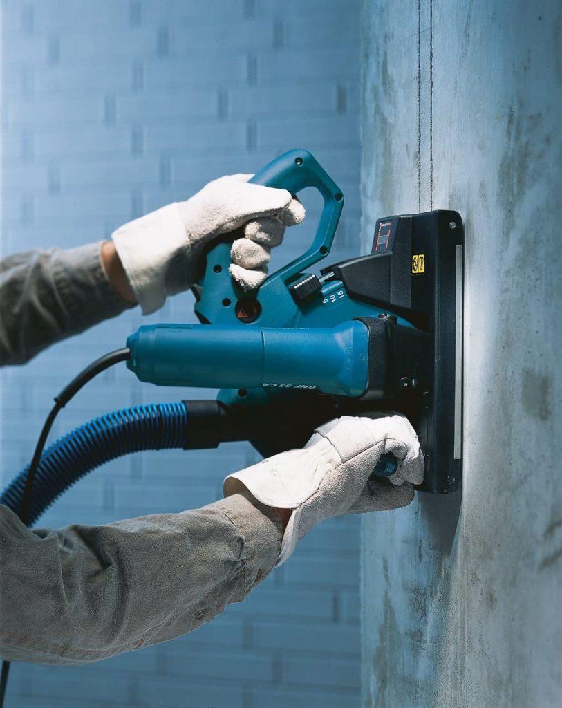 Utilisation rainureuse à béton Bosch GNF 35